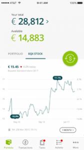 EquateMobile Stock Screen