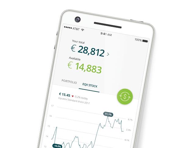 EquateMobile app on a smartphone