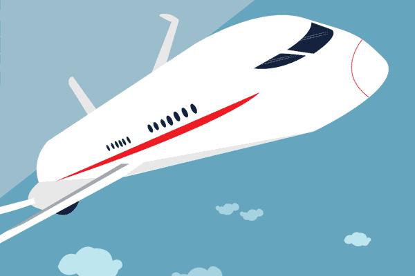 Illustration air travel