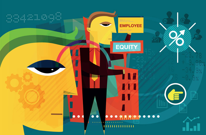 Illustration of employee