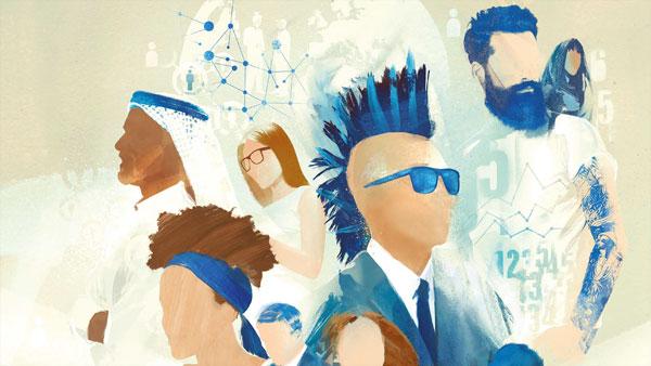 Illustration of diverse group