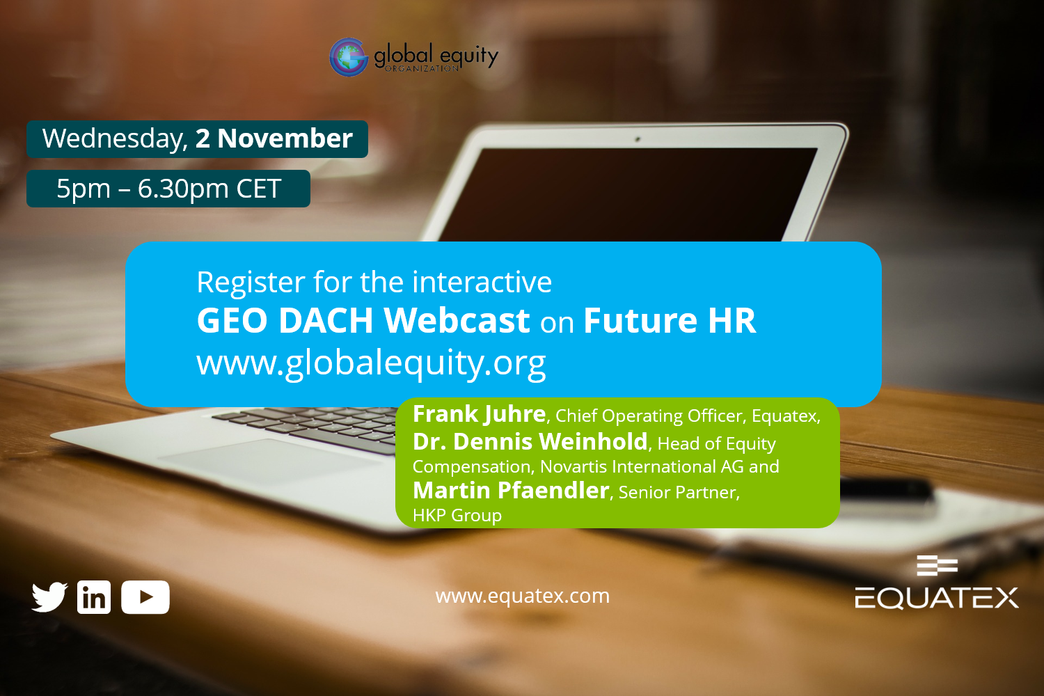GEO Dach Webinar with Equatex
