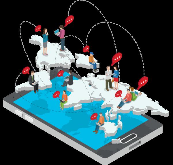 Mobile map illustration