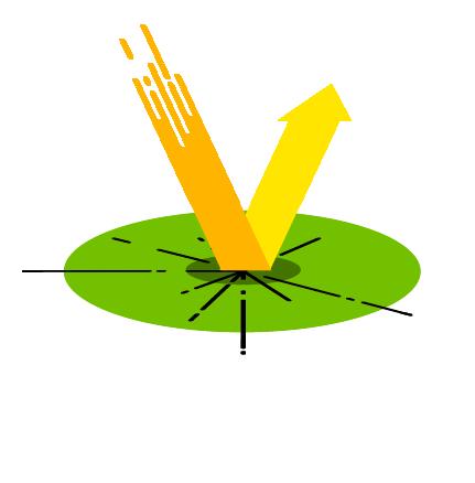 Arrow bounces off circular surface