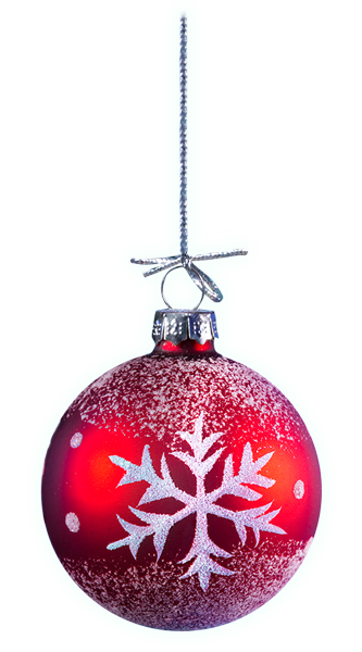 Red festive bauble