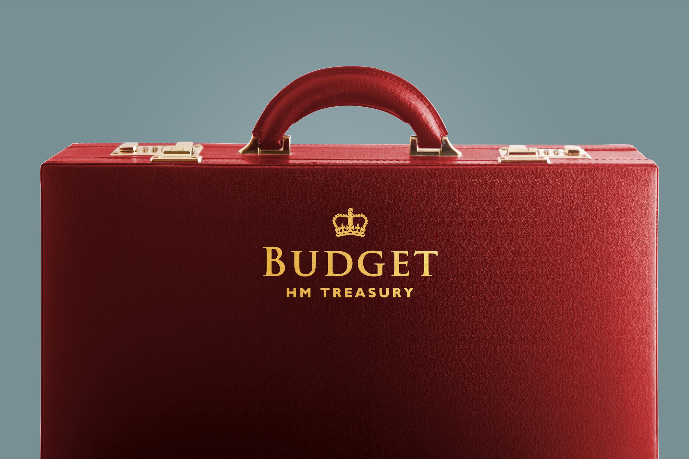 UK Treasury Budget briefcase