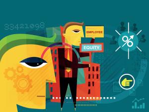 Employee equity illustration