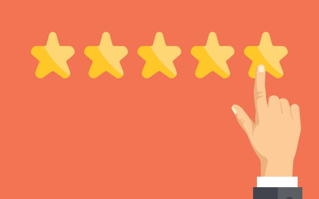 Five stars illustration