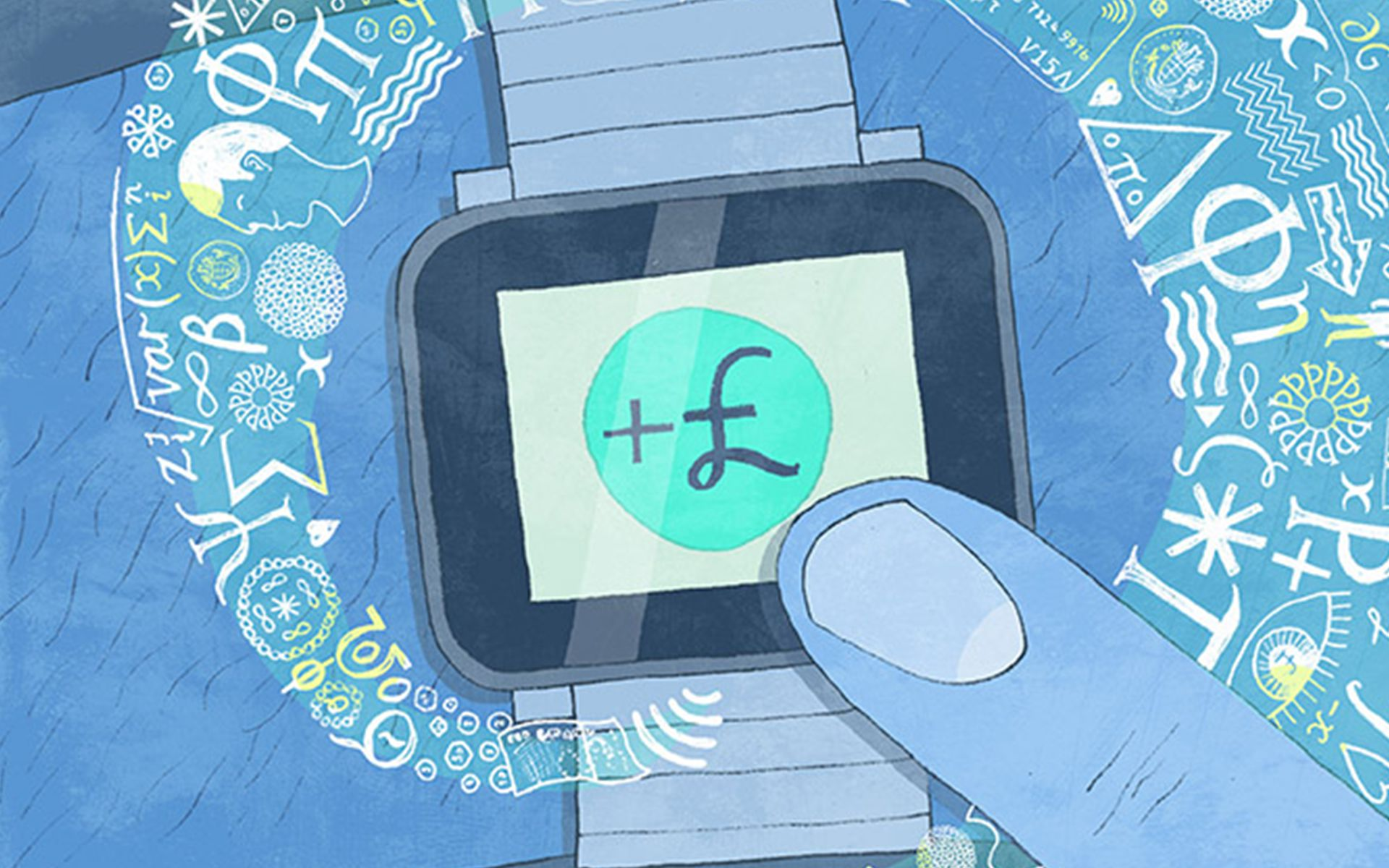 Smart watch illustration