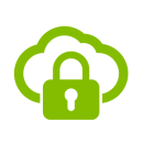 Safe cloud icon