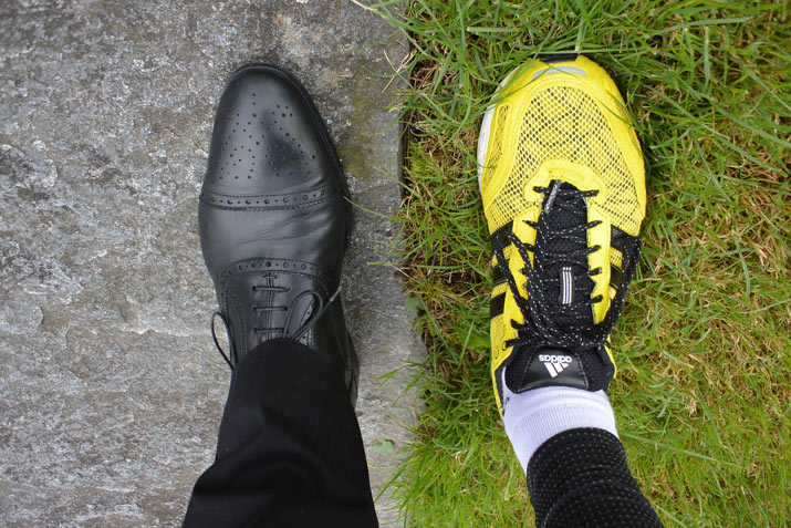 Office shoes and running shoes