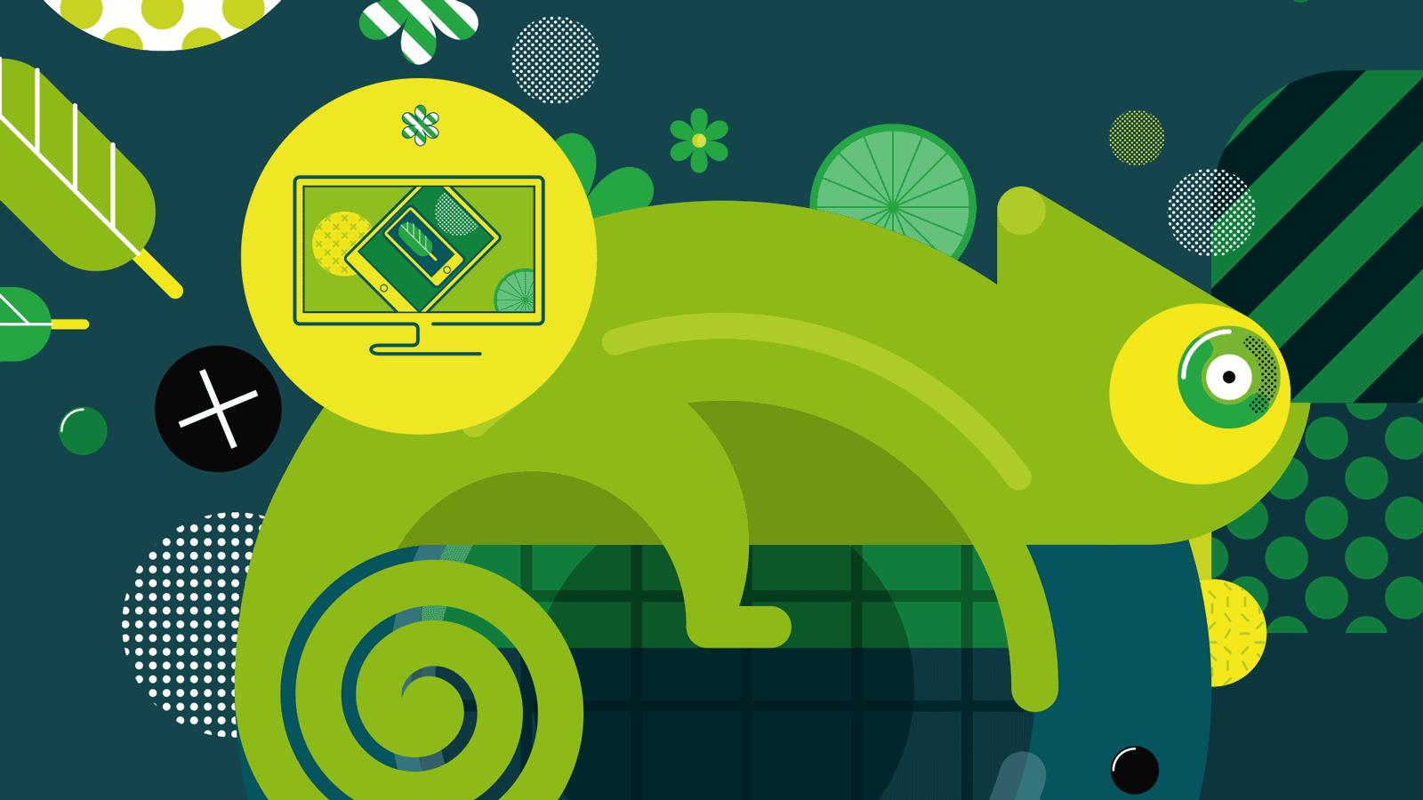 Chameleon lead graphic